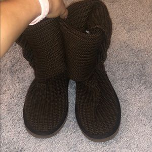 Brown Knit Uggs